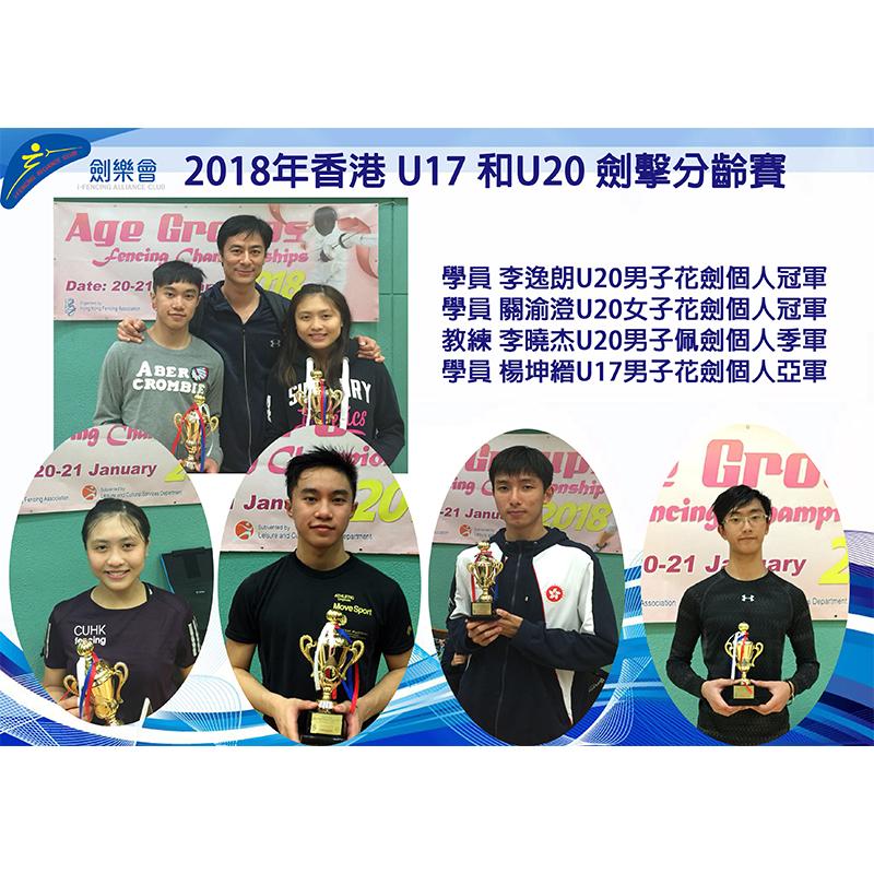2018年香港 U17 和U20 劍擊分齡賽