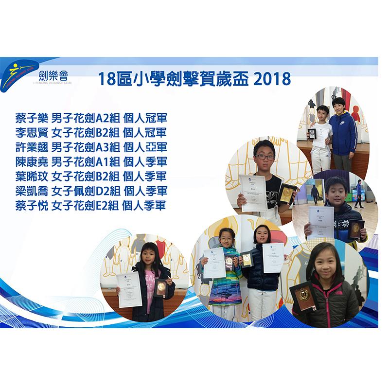 18區小學劍擊賀歲盃 2018